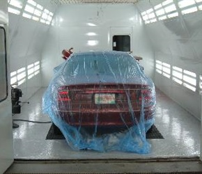 Buick Century Being Refinished In our Garmat Paintbooth